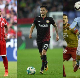 Conoce toda la agenda y los resultados de los futbolistas chilenos en Europa
