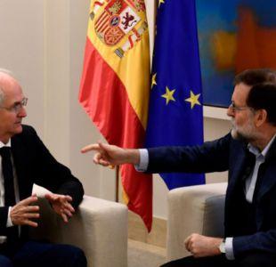 """Ledezma se reúne con Rajoy y pide a la oposición Venezolana hacer """"autocrítica"""""""