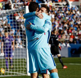 Suárez rompe su sequía con doblete en la goleada del Barcelona sobre Leganés