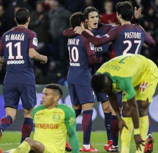 Paris Saint Germain aplasta al Nantes gracias a su legión de sudamericanos