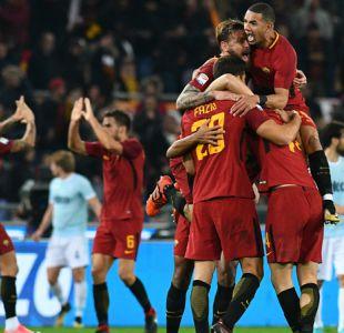 Roma se queda con el clásico de la capital ante Lazio y es tercera en Italia