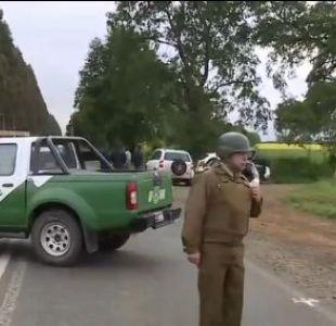 Carabineros refuerza despliegue en La Araucanía tras ataque incendiario