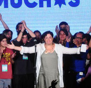 Beatriz Sánchez celebra tercer lugar: Estamos cambiando el mapa político de Chile