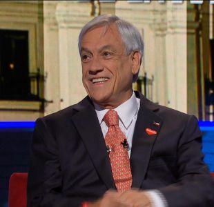 Piñera: Me sorprende que la suma de los candidatos del gobierno no llegó al 28%