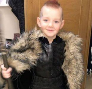 El niño enfermo de cáncer que gracias al elenco de Vikingos fue Ragnar por un día