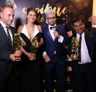 Parte de los ganadores de Canal 13 en los Copihue de Oro 2017