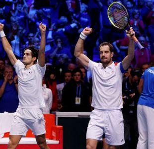 Francia se adelanta 2-1 a Bélgica en final de Davis tras ganar en dobles