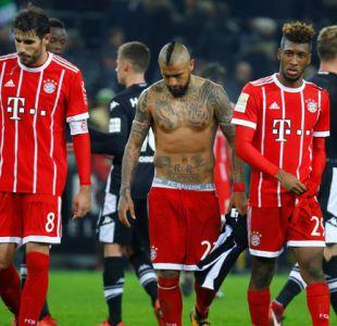 Arturo Vidal anota golazo en derrota del Bayern ante Borussia Mönchengladbach