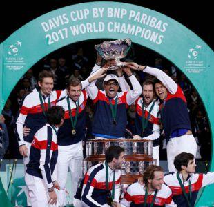 Francia alcanza a Gran Bretaña en el tercer lugar del palmarés histórico de la Copa Davis