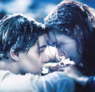 """Leonardo DiCaprio y Kate Winslet en una recordada escena de """"Titanic"""""""