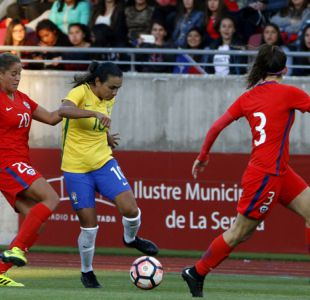 """""""La Roja"""" femenina no puede ante Brasil de Marta y cae goleada en La Serena"""
