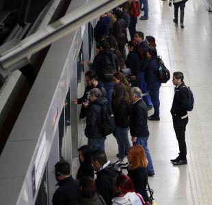 [VIDEO] Metro de Santiago presenta cuarta falla en una semana