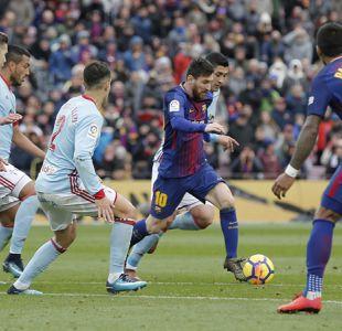 """""""Tucu"""" Hernández juega en sorprendente empate del Celta de Vigo ante Barcelona"""