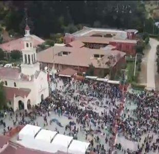 [VIDEO] Miles de peregrinos muestran su fe en Lo Vásquez