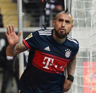 Arturo Vidal le da el triunfo al Bayern Munich con cuarto gol consecutivo