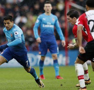 Alexis Sánchez aporta en empate sobre la hora del Arsenal ante el Southampton