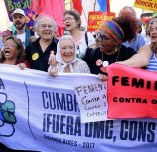 Incidentes en marcha contra la OMC en Buenos Aires