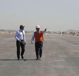 Aeropuerto de Santiago: Nueva pista de aterrizaje permitirá disminuir tiempos de espera