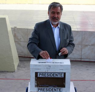 [VIDEO] Guillier tras votar: Creo que vamos a ganar por una diferencia estrecha, pero clara