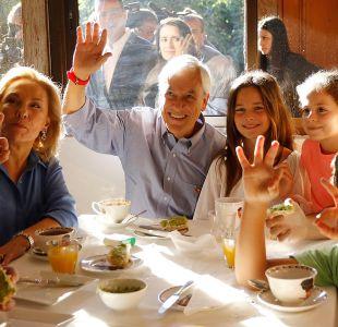 Sebastián Piñera y su familia en el desayuno de este día de elecciones