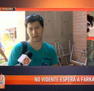 Joven no vidente pide ayuda a Leonardo Farkas