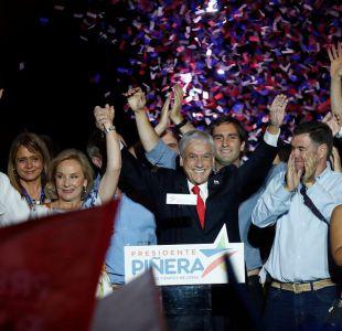 Sebastián Piñera llama a la unidad en su primer discurso como presidente electo