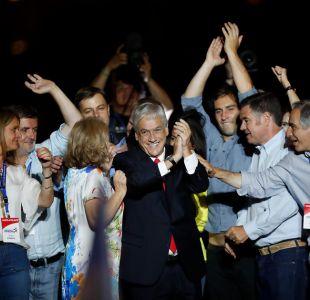 La celebración de Piñera en el centro de Santiago