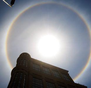 Halo solar en Santiago
