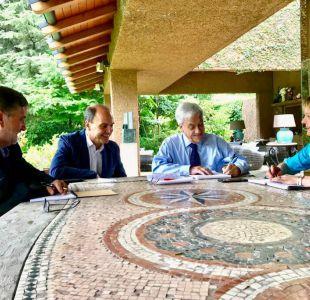 Piñera recibe a partidos de Chile Vamos como Presidente electo