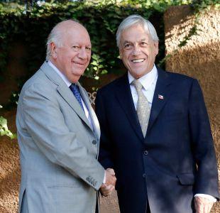 Piñera recibe a ex presidente Lagos como parte de ronda de encuentros