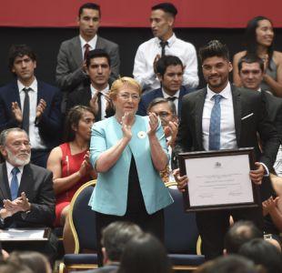 Pablo Quintanilla recibe el Premio Nacional del Deporte 2016 en La Moneda