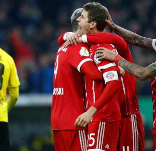 Arturo Vidal juega en triunfo del Bayern sobre Dortmund por la Copa de Alemania