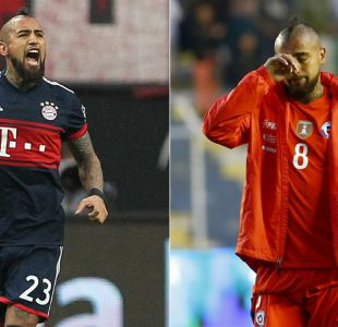 """[VIDEO] Las dos caras de Vidal en el 2017: """"Rey Arturo"""" en Bayern y sin Mundial"""