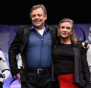 Mark Hamill y Carrie Fisher