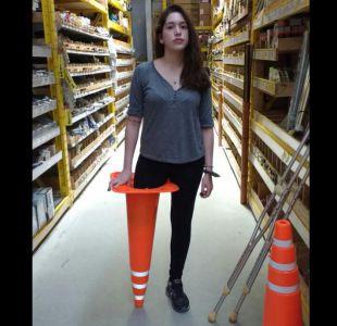 Humor negro: la estrategia de una joven argentina para superar la pérdida de su pierna