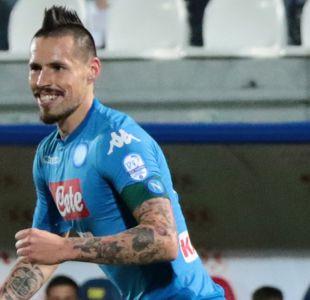 Marek Hamsik le da la victoria a un Napoli que es más líder de la Serie A