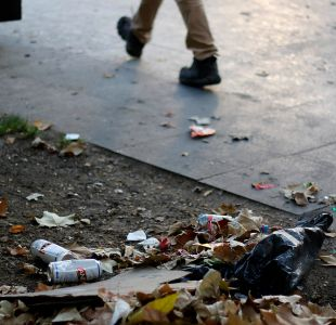 [FOTOS] Gran acumulación de basura en las calles de Santiago después de Año Nuevo