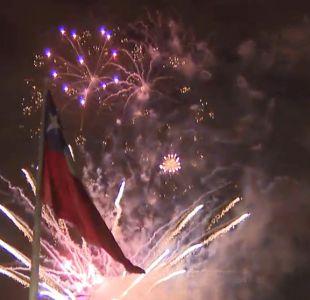 [VIDEO] Así se celebró el Año Nuevo en Santiago