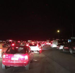 Conductores denuncian gran congestión en Operación retorno a Santiago