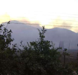 Corte de luz en zona sur de Santiago fue provocado por incendio forestal