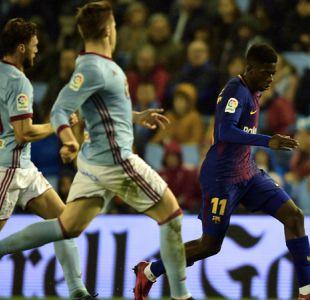 Dembélé reaparece en empate de Barcelona ante Celta de Vigo por Copa del Rey