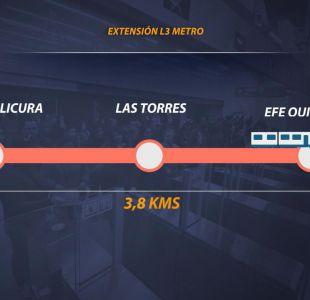 [VIDEO] Aprueban la extensión de la línea 3 del metro hasta Quilicura