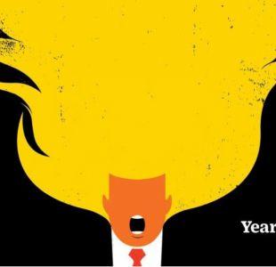 TIME dedica su portada al primer año en la presidencia de Trump con un Presidente en llamas