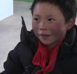 La conmovedora historia del niño chino que llegó congelado a la escuela
