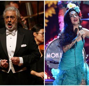 """Plácido Domingo y Mon Laferte unen sus voces en el concierto """"Chile en mi corazón"""""""