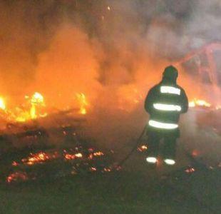 Investigan posible ataque incendiario a capillas en la Araucanía