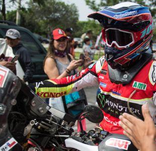 """Cornejo remata por delante de Quintanilla en 11ª etapa y son """"top ten"""" en motos del Dakar"""