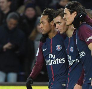 """PSG se da un paseo en la Ligue 1 con un Cavani histórico y """"póker"""" de Neymar"""