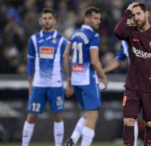 Barcelona cae sobre la hora ante Espanyol en clásico donde Messi desperdició un penal