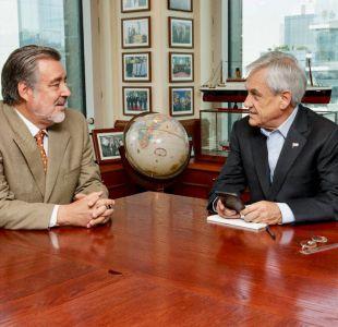Guillier se reúne con Piñera y enfatiza necesidad de una oposición colaborativa